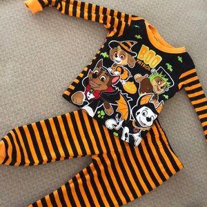 Halloween paw patrol pajama set